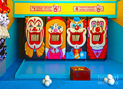 Creepy Clown Game Art Print by Gregory Dyer