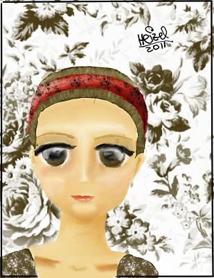 Creepy Face Art Print by Heizel Gonzalez