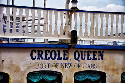 Steamboat Photograph - Creole Queen by Bill Cannon