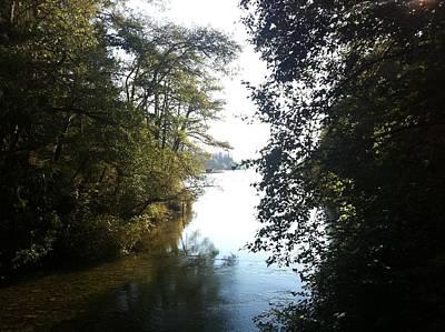 Painting - Crescent Lake Thru The Trees by Richard Mordecki