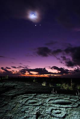 Hawaiian Artifacts Photograph - Crescent Moon And Corona, Venus by Steve And Donna O'Meara