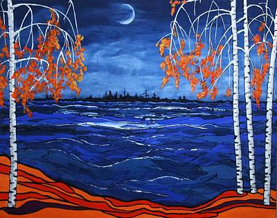 Surrealistic Painting - Crescent Moon by Kathy Peltomaa Lewis