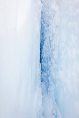 Fox Glacier Photograph - Crevasse, Fox Glacier, New Zealand by Jeffrey Conley