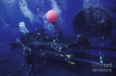 Inflatable Photograph - Crewmen Disconnect The Cargo Straps by Michael Wood