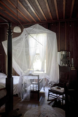 Crib With Mosquito Netting In A Florida Cracker Farmhouse Art Print