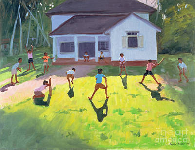 Pastimes Painting - Cricket by Andrew Macara