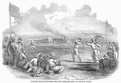 Cricket Match, 1851 Art Print by Granger