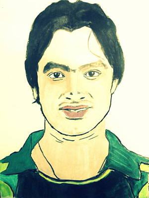 Painting - Cricket Player-imran Nazir by Poornima M