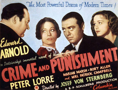 Posth Photograph - Crime And Punishment, Edward Arnold by Everett