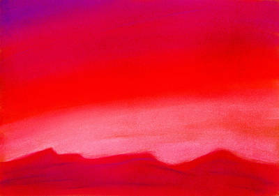 Colourful Painting - Crimson Night by Hakon Soreide