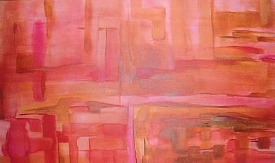 Painting - Crimson Sky by Derya  Aktas