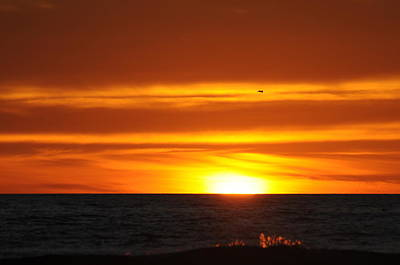 Photograph - Crimson Sunset by Richard Omura