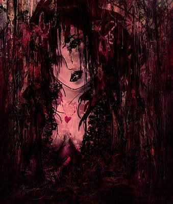 Hurt Digital Art - Crimson Torn Lace by Rachel Christine Nowicki