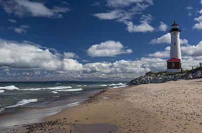 Rose - Crisp Point Lighthouse 1 by John Brueske