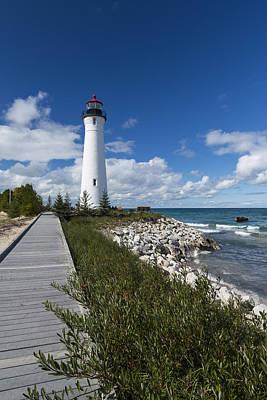Door Locks And Handles - Crisp Point Lighthouse 10 by John Brueske