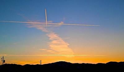 Photograph - Crisscross Sunset by Eric Tressler
