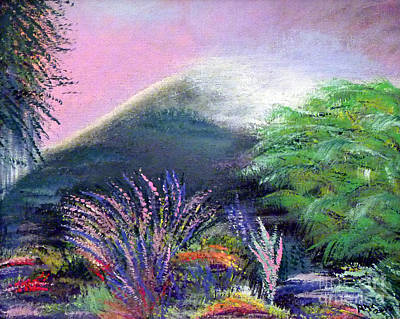 Art Print featuring the painting Croagh Patrick by Alys Caviness-Gober