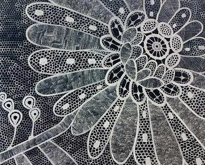 Crochet Flower Art Print by Salwa  Najm
