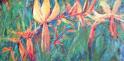 Crocosmia Painting - Crocosmia 01 by Sukey Watson