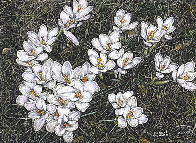 Painting - Crocus Flowers by Robert Goudreau