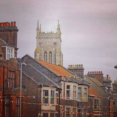 Norfolk Wall Art - Photograph - #cromer #latergram #buildings by Alexandra Cook