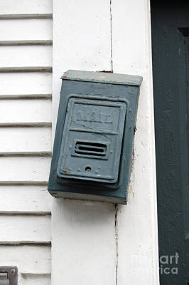 Crooked Vintage Metal Green Mailbox French Quarter New Orleans Art Print by Shawn O'Brien