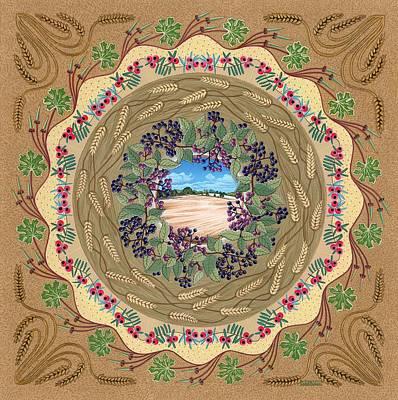 Crop Circle Art Print by Isobel  Brook Haslam