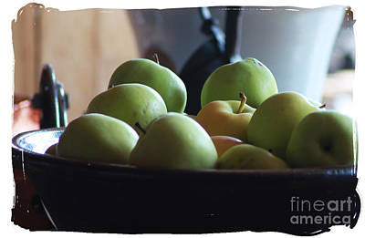 Photograph - Cropped Apples by Lori Mellen-Pagliaro