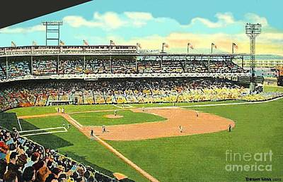 Painting - Crosley Field Baseball Stadium In Cincinnati Oh by Dwight Goss