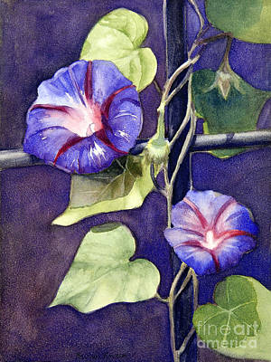 Morning Glories Painting - Cross And Glory by Bonnie Rinier