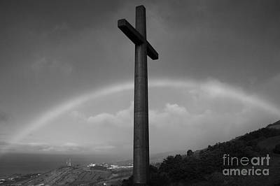Cross And Rainbow Art Print by Gaspar Avila