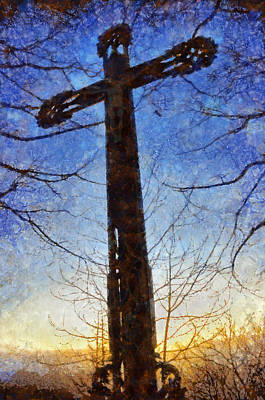 Christian Artwork Digital Art - Cross - Crucifix by Matthias Hauser