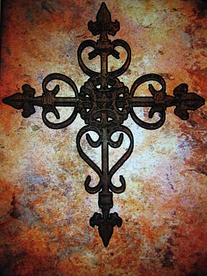 Religious Photograph - Cross by Cindy Edwards