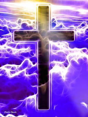 Believe Digital Art - Cross by Stephen Younts