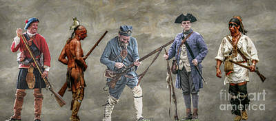Seven Years War Digital Art - Crossed Paths French And Indian War by Randy Steele