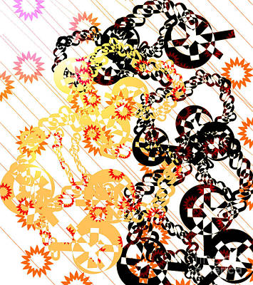 Crosses And Chains  Art Print by Melissa  Hardiman