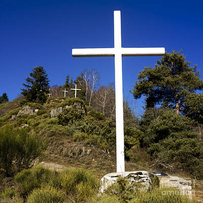 Wayside Photograph - Crosses by Bernard Jaubert