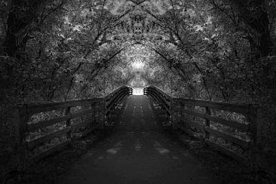 Photograph - Crossing Over - Black And White by Anthony Rego