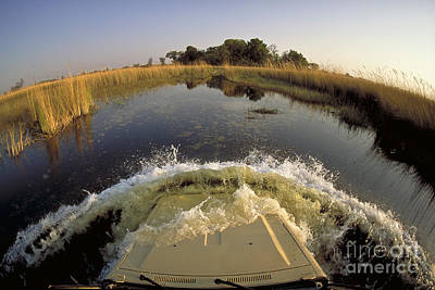Photograph - Crossing River In Land Cruiser by Greg Dimijian