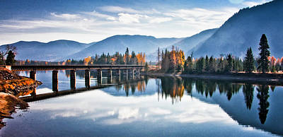 Photograph - Crossing The Clark Fork by Albert Seger