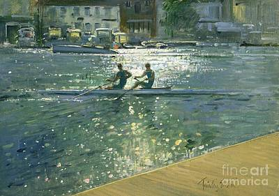 Water Sports Painting - Crossing The Light Break - Henley by Timothy Easton