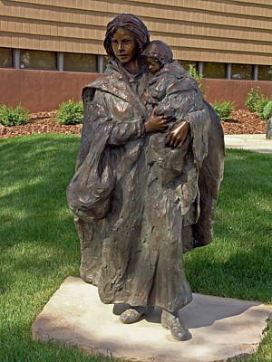 Leanin Tree Photograph - Crossing The Prairie Sculpture by Sally Weigand