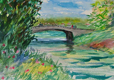 Crossing The River Art Print