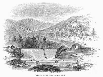 Photograph - Croton Dam, 1860 by Granger