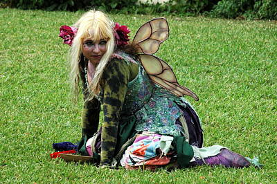 Photograph - Crouching Fairy by Teresa Blanton