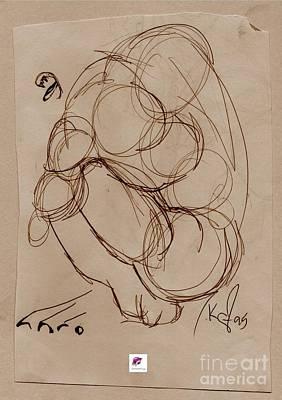 Drawing - Crouching Tiger by Carol Rashawnna Williams