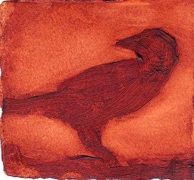 Art Print featuring the painting Crow by Alla Parsons