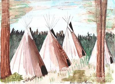 Painting - Crow Camp Montana by Windy Mountain