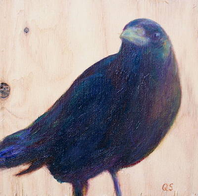 Painting - Crow Friend by Quin Sweetman