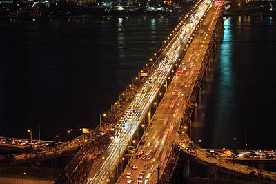 Seoul Photograph - Crowded Bridge by SJ. Kim